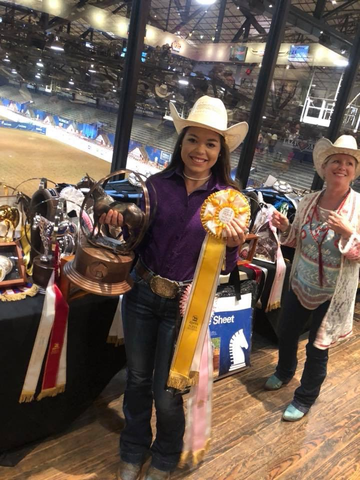 Skylar Duleba earned the NRSHA novice youth all-around championship and place third in the AQHA all-around.