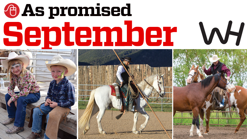 graphic of online content promised in the september 2019 western horseman magazine