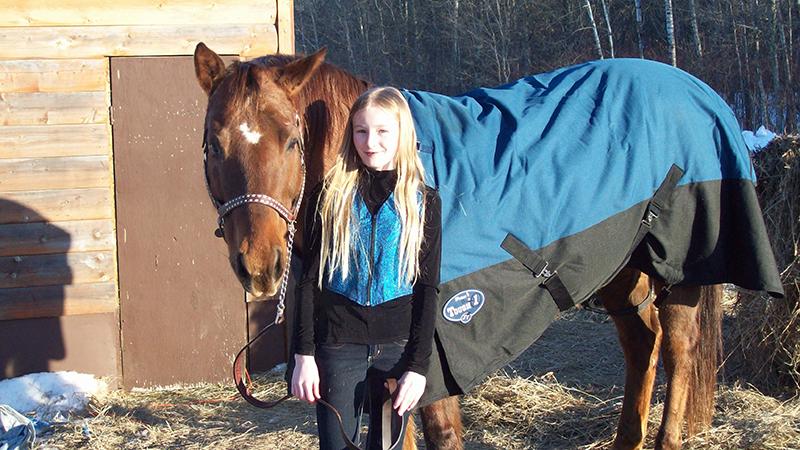 Jamie and her gelding cash