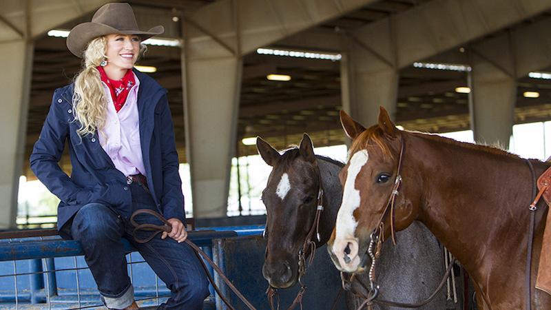 Cameron Baldus modeling Western apparel