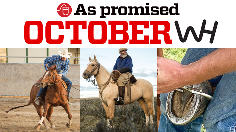 graphic of online content promised in the october 2019 western horseman magazine