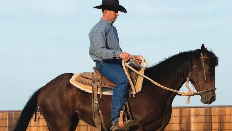 Chris Littlefield riding a horse