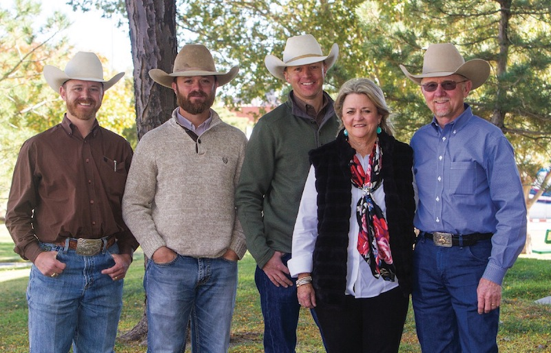 John and Bonnie Welch with their sons that altogether run Welch Cattle Company
