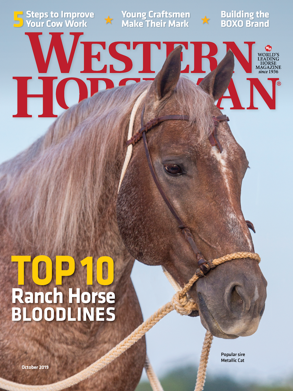 October 2019 issue of Western Horseman magazine cover