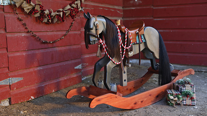 Palo Pinto Rocking Horses toys are beautiful, authentic toys horsemen and kids will love.