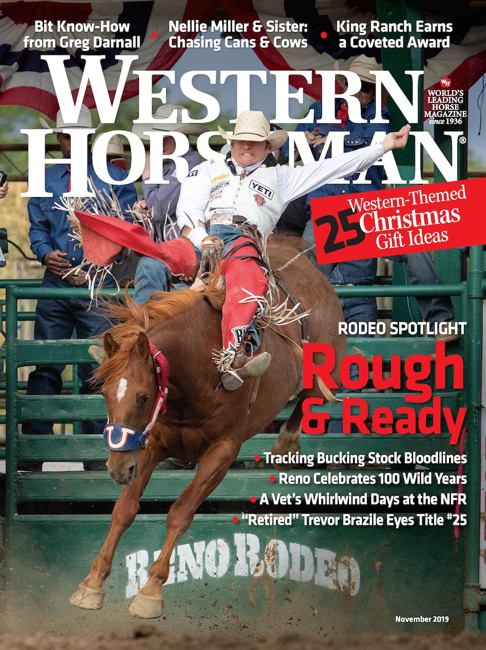 Western Horseman magazine November 2019 cover