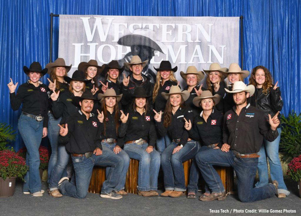 Texas Tech University team black, 2019 Stock Horse of Texas world champions.