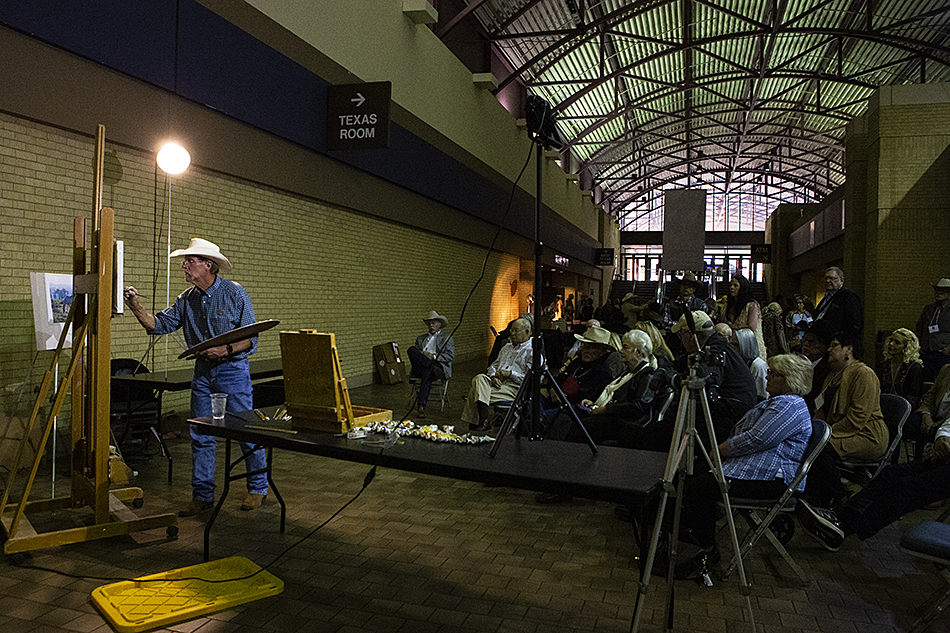 Martin Grelle gives a demonstration at the CAA Sale and Exhibition in Fort Worth