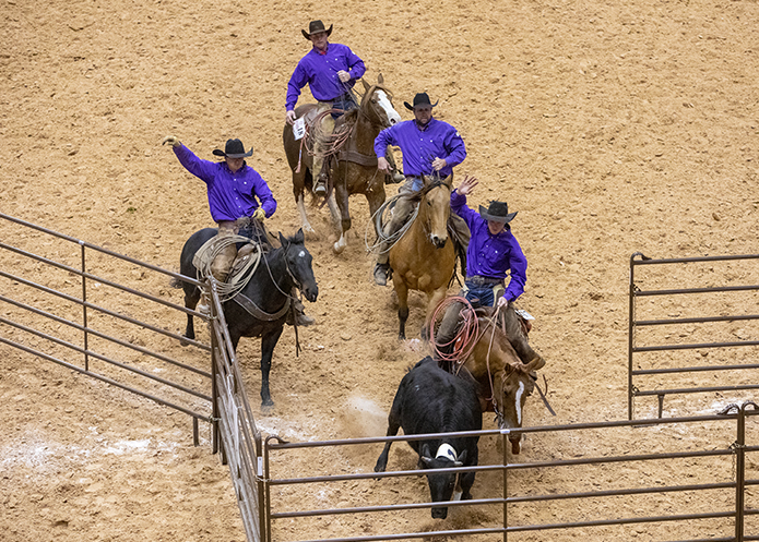 Lonesome Pine Ranch was one of five ranch rodeo teams from Kansas.