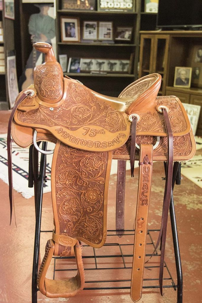 Craig Robinson made a saddle for the 75th anniversary of Veach Saddlery