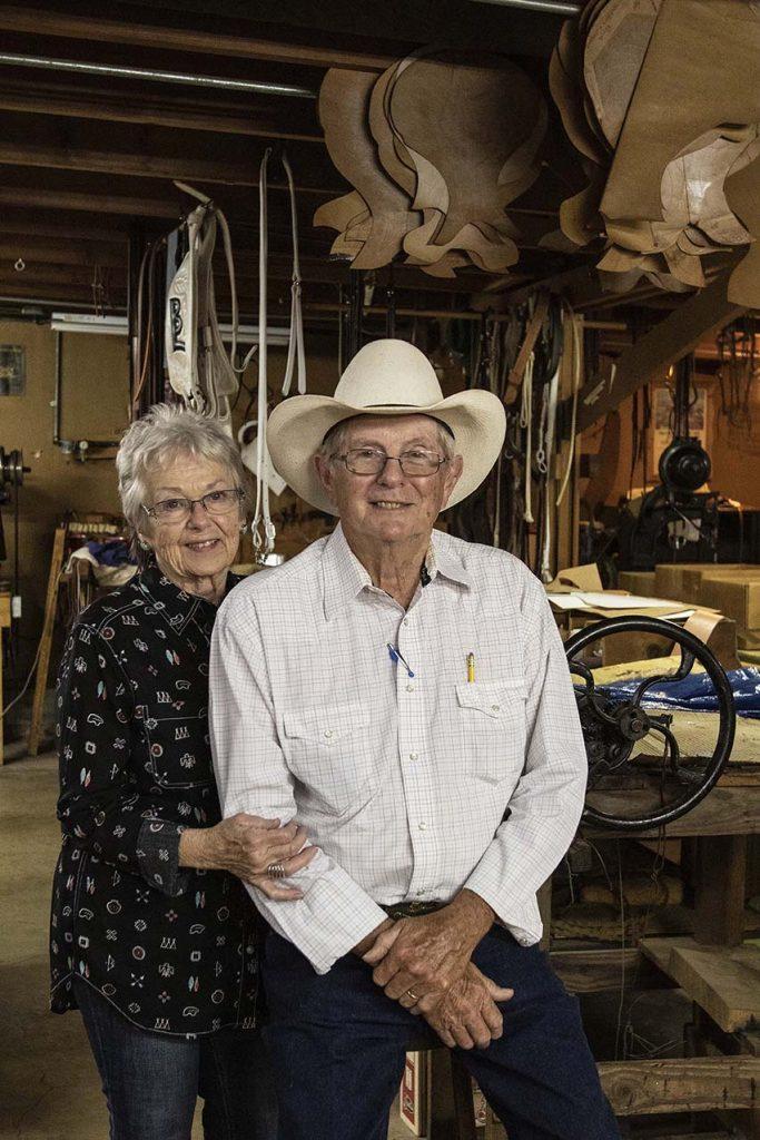 Peggy and Robert Robinson make custom saddles in Trenton, Missouri