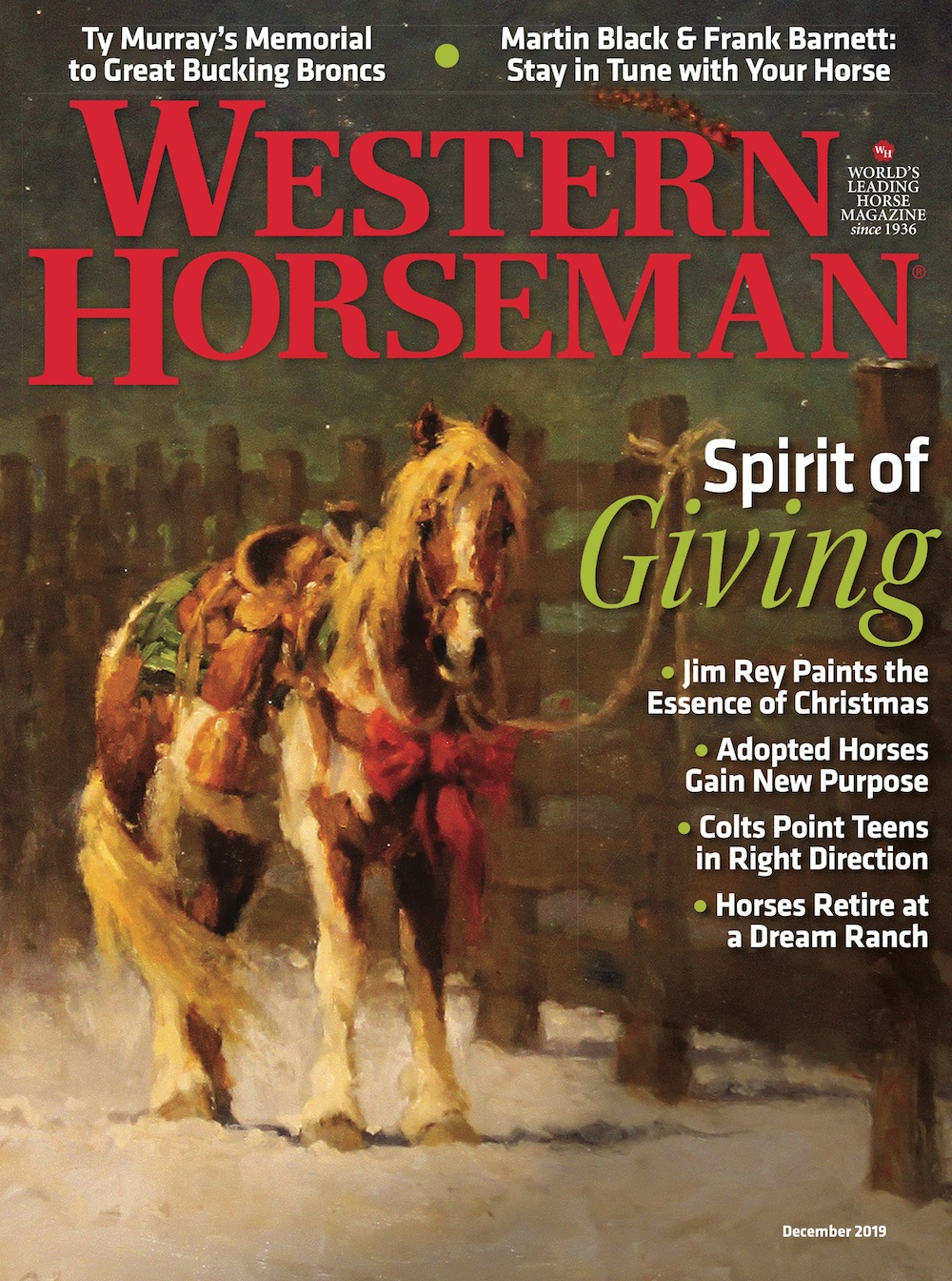 Western Horseman magazine December 2019 cover