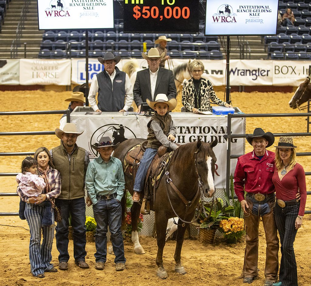 The high seller at the WRCA Invitational Ranch Gelding Sale was Hesasmooth Hillbilly, consigned by Mozaun McKibben