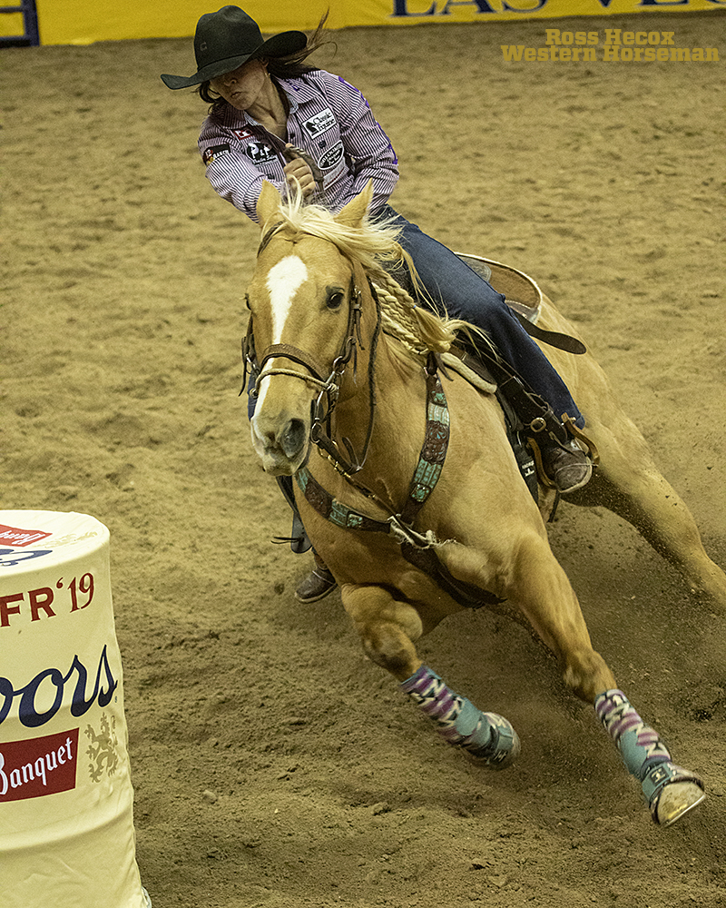Barrel racer Hailey Kinsel and her horse Sister won their second NFR championship.