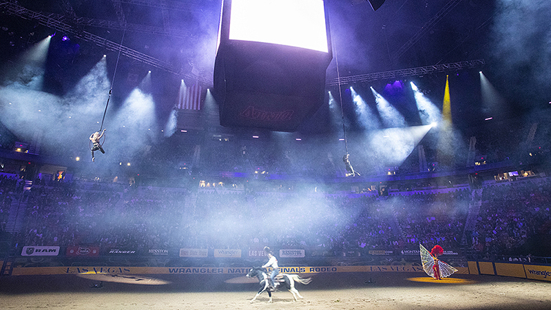 Opening night at the Wrangler National Finals Rodeo is always a showstopper.