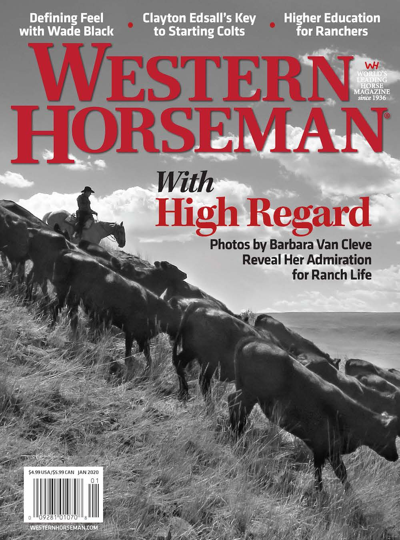 Western Horseman magazine January 2020 newsstand cover