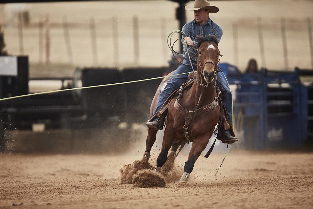 Luke Brown roping