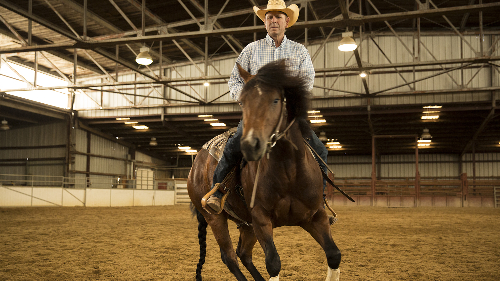 One of Jon Roeser's favorite bits is an unmarked snaffle.