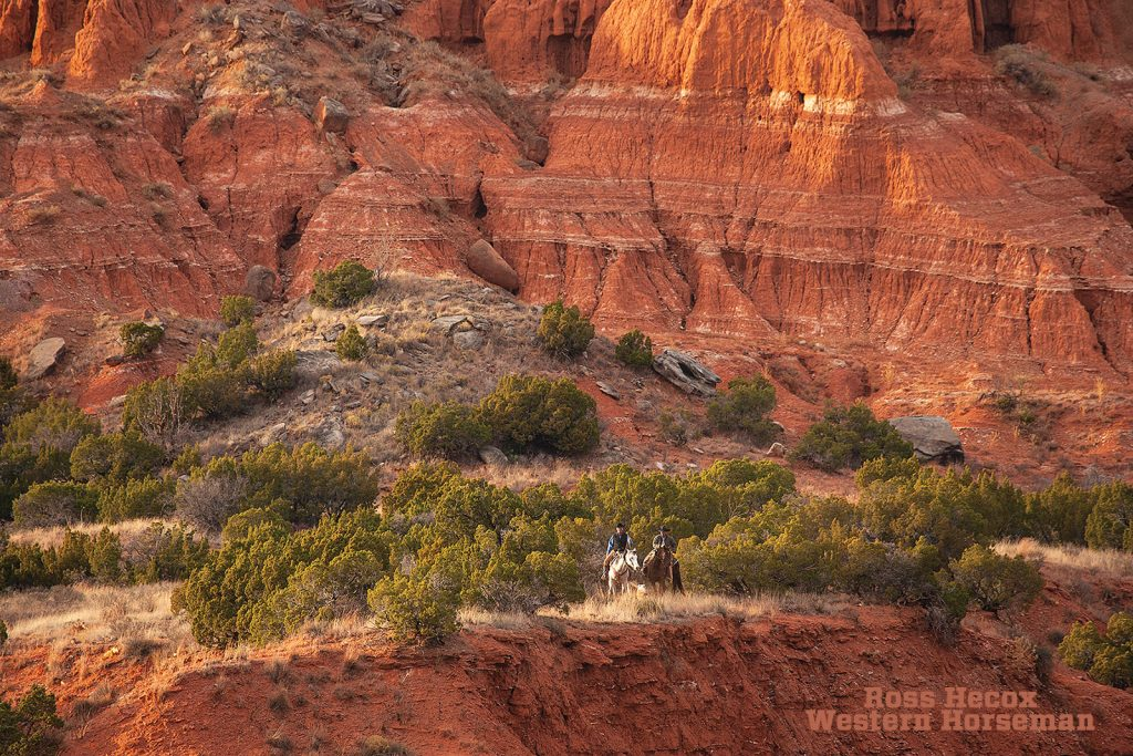 In the Texas Panhandle, Palo Duro Canyon is a beautiful site for hikers and riders.