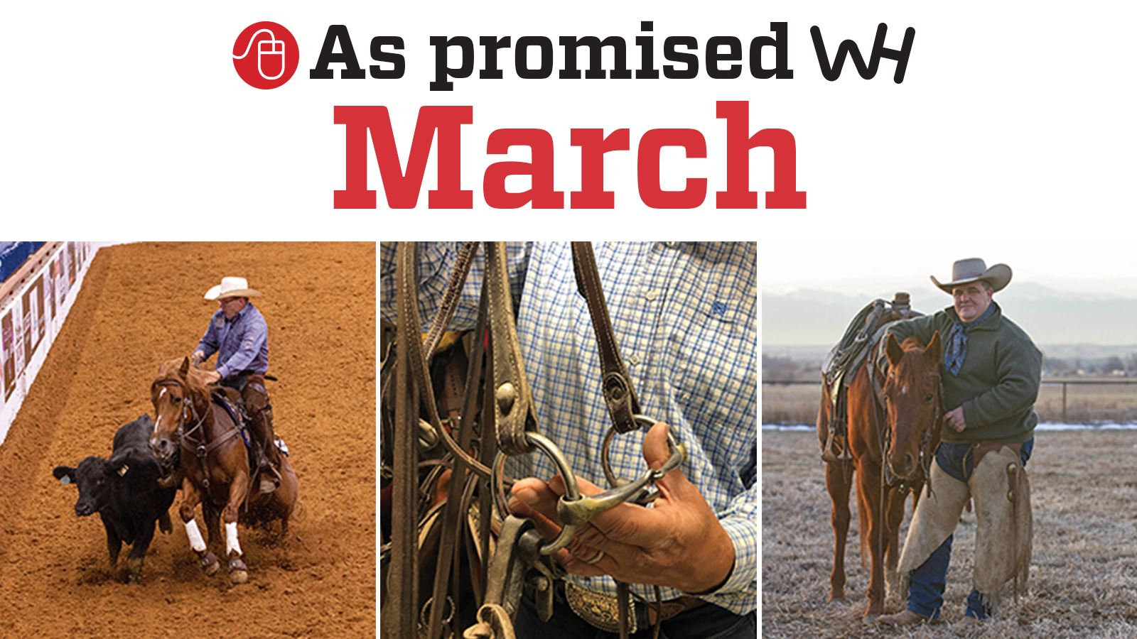 March 2020 Western Horseman promised content graphic
