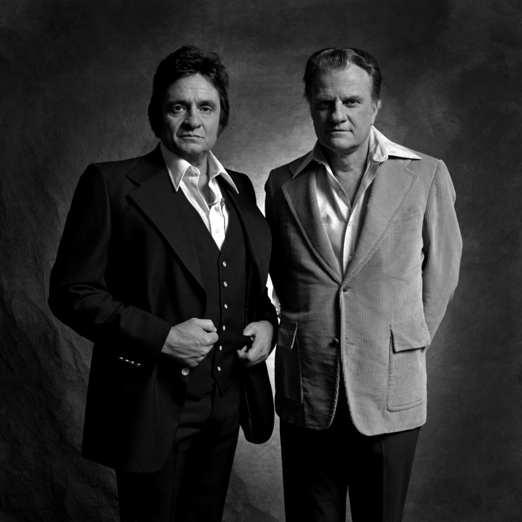 Jim McGuire took this portrait of Johnny Cash and Billy Graham, who were friends.