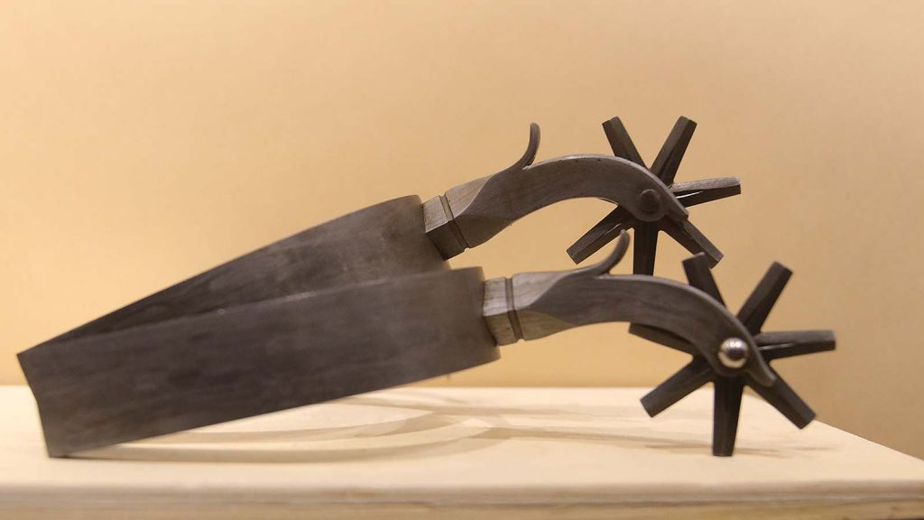 David Harshberger is building a pair of Californio-style spurs.