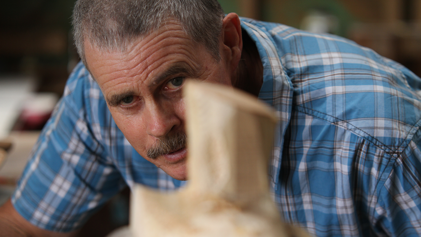 Warren Wright builds saddletrees for working cowboys from his workshop in New Zealand.