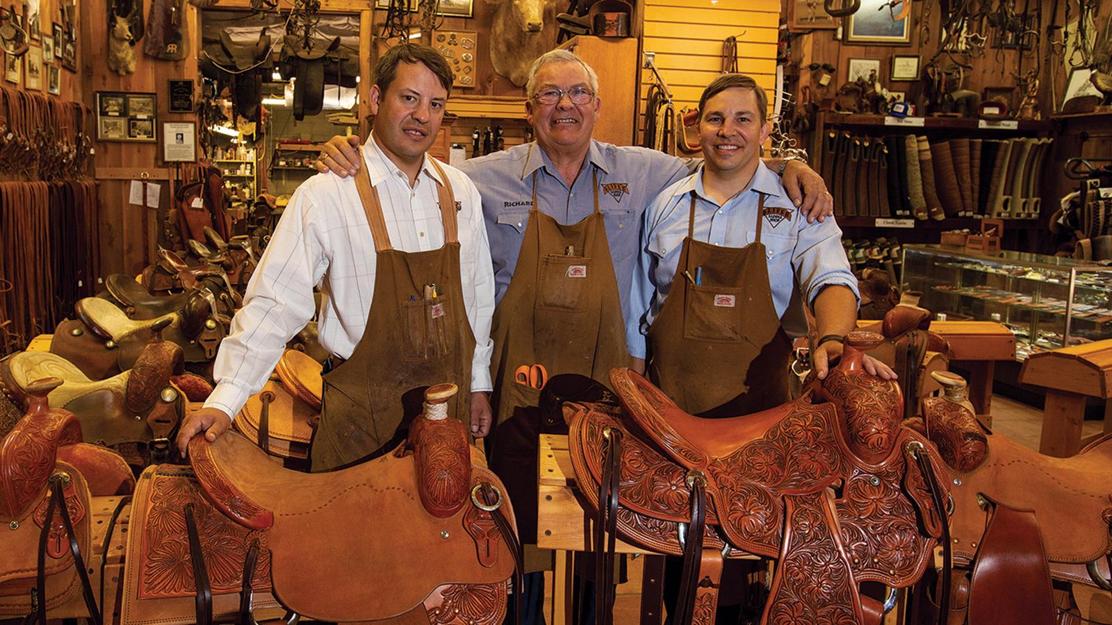 Oliver Saddlery makes saddles and reins.