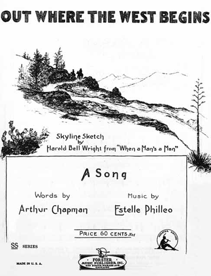 Estelle Philleo wrote sheet music of the Western poem.