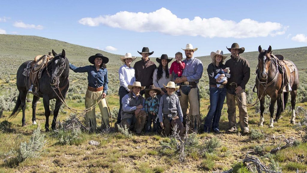 The Bentz family raises horses in Oregon.