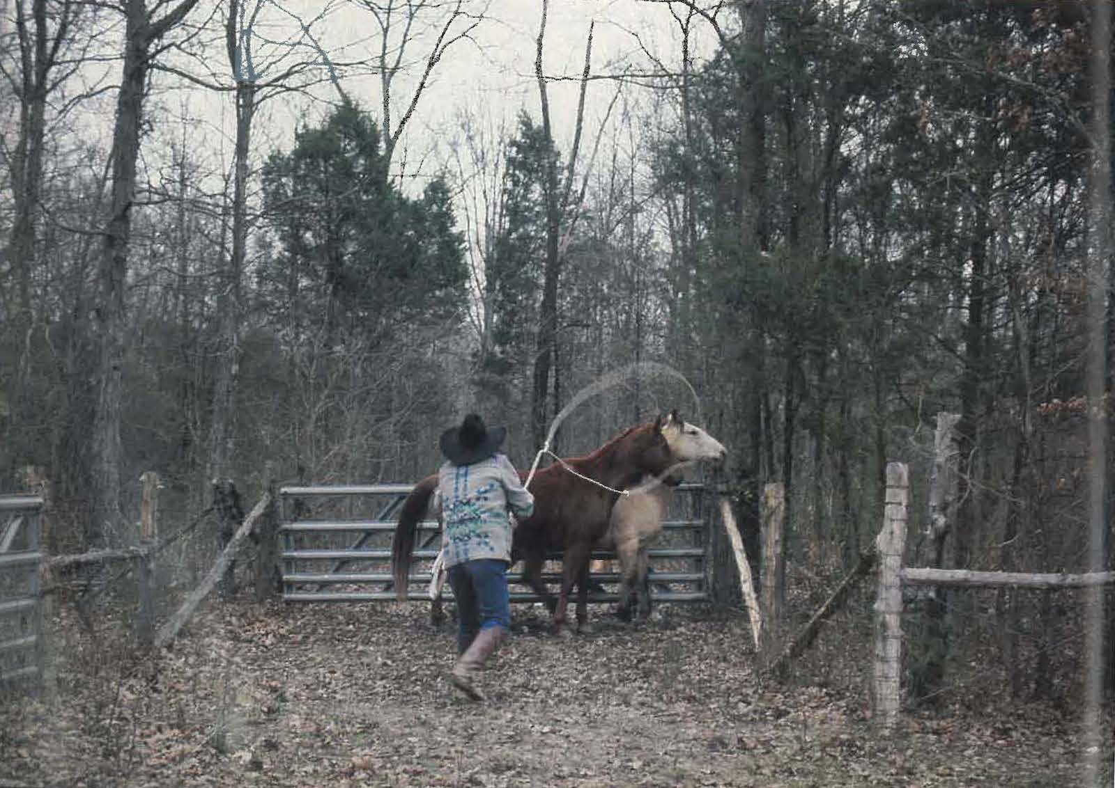 Charlie Daniels roping horses