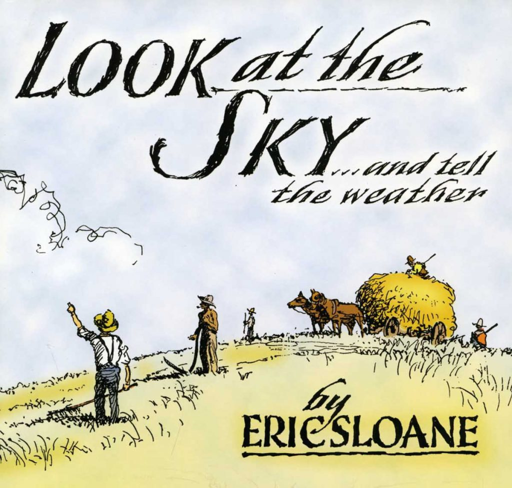 """Look at the Sky and Tell the Weather"" Eric Sloan book cover"