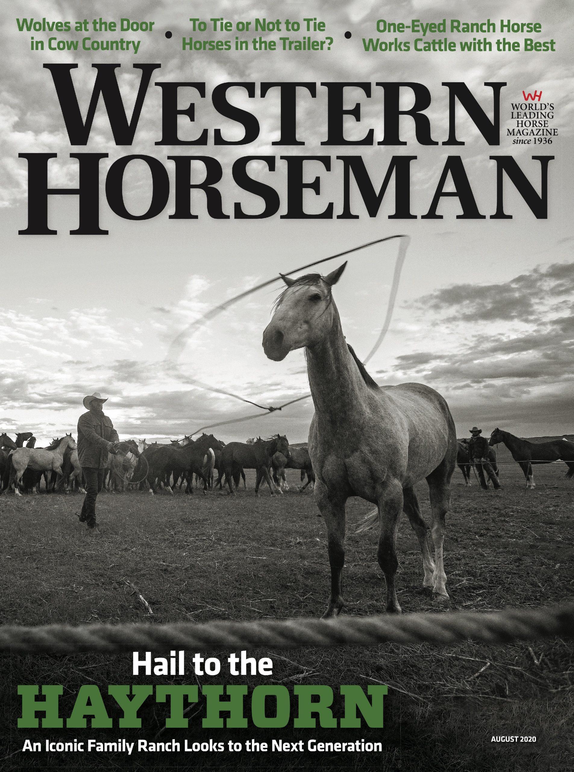 Western Horseman magazine cover august 2020