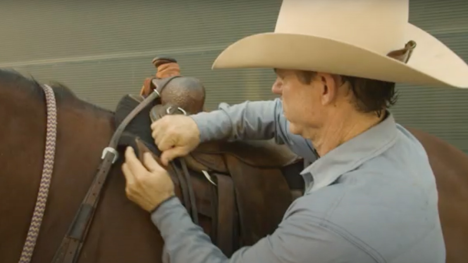 Chris Cox explaining proper saddle pad placement