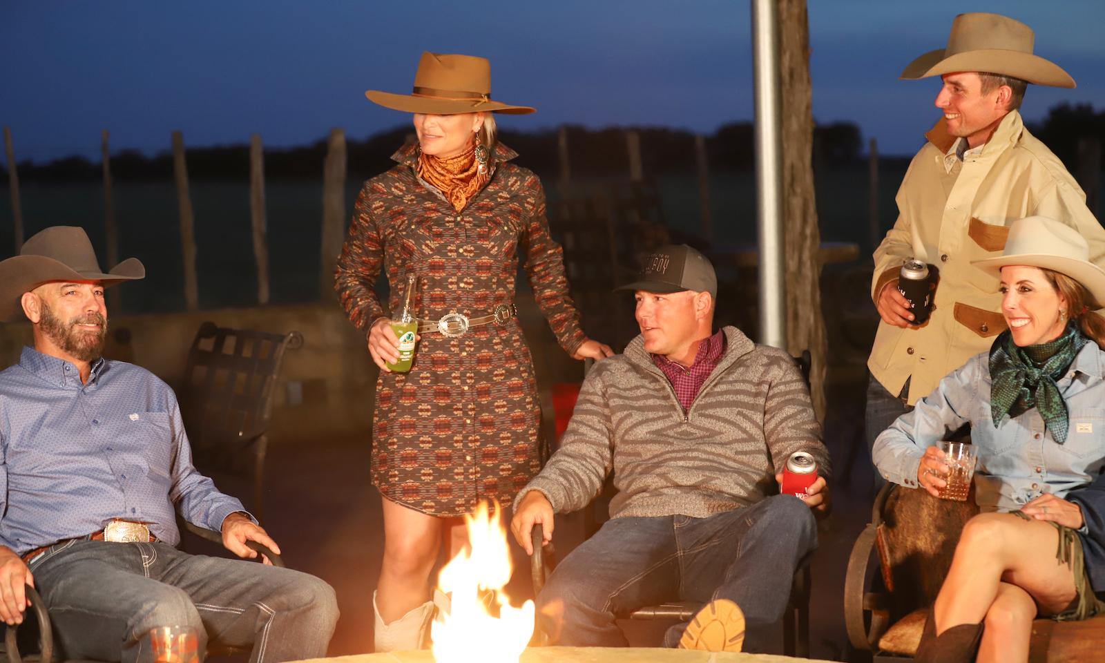 models in Western apparel