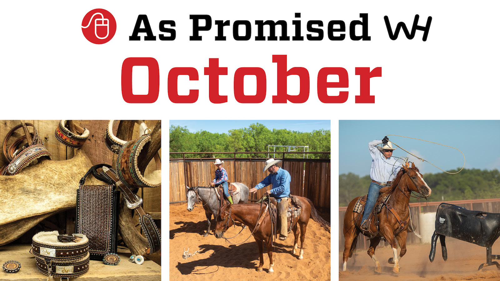 October 2020 Western Horseman magazine promised content graphic