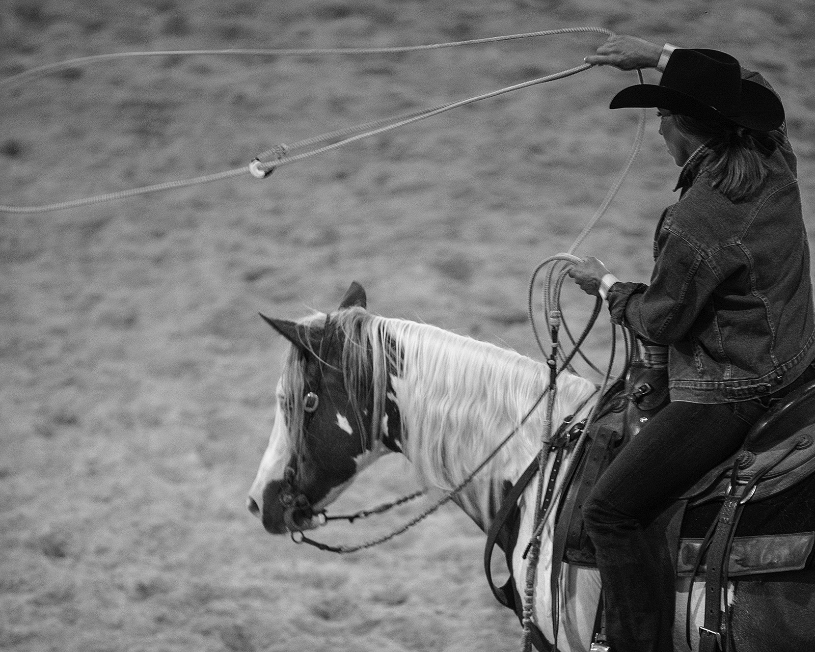 Roping takes practice