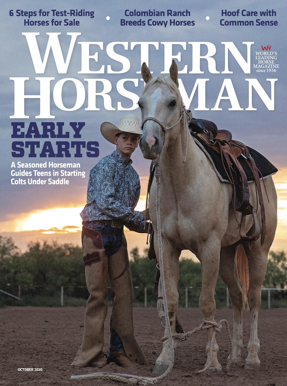 Western Horseman magazine October 2020 cover