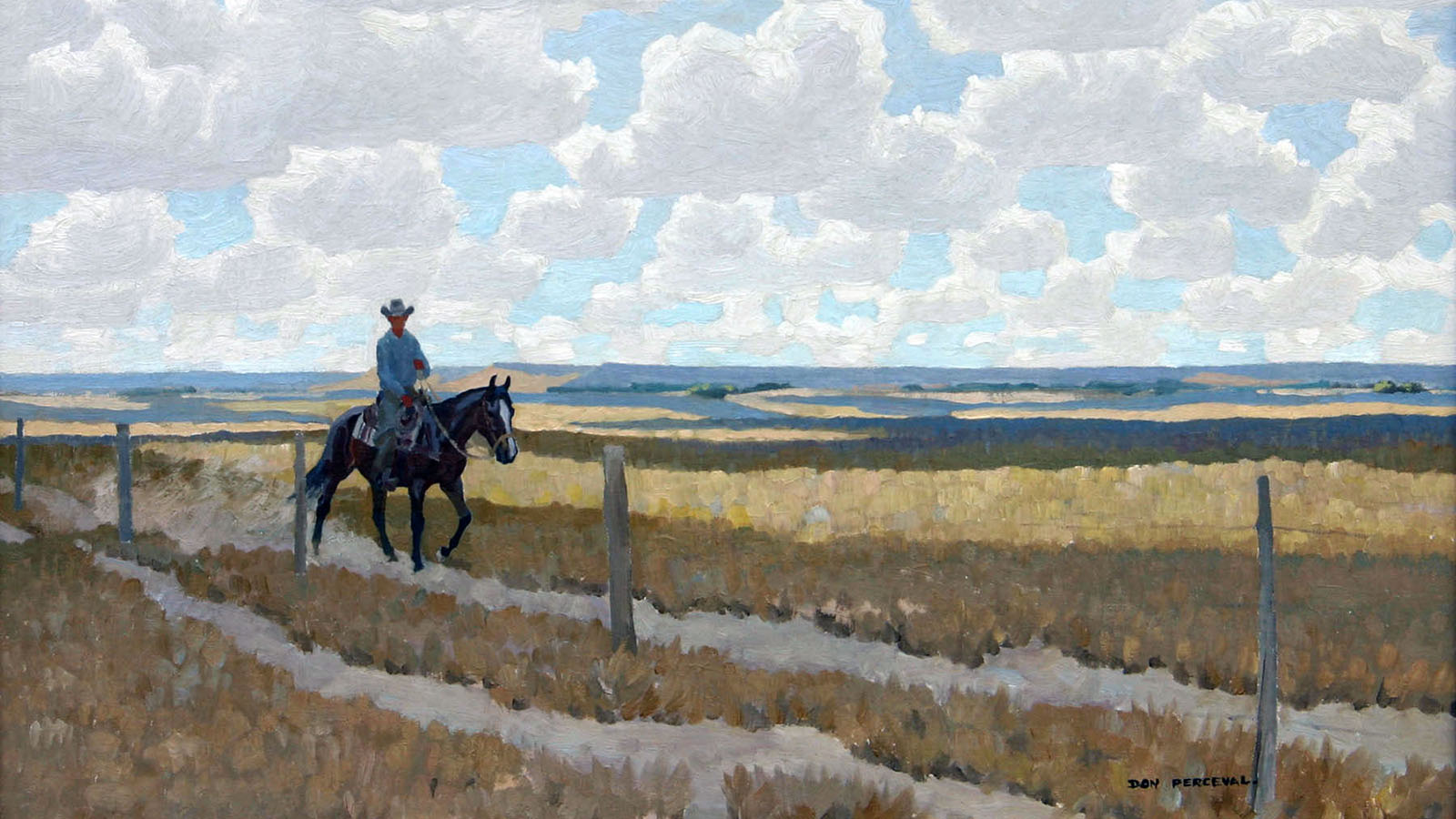 Western painting by Don Louis Perceval