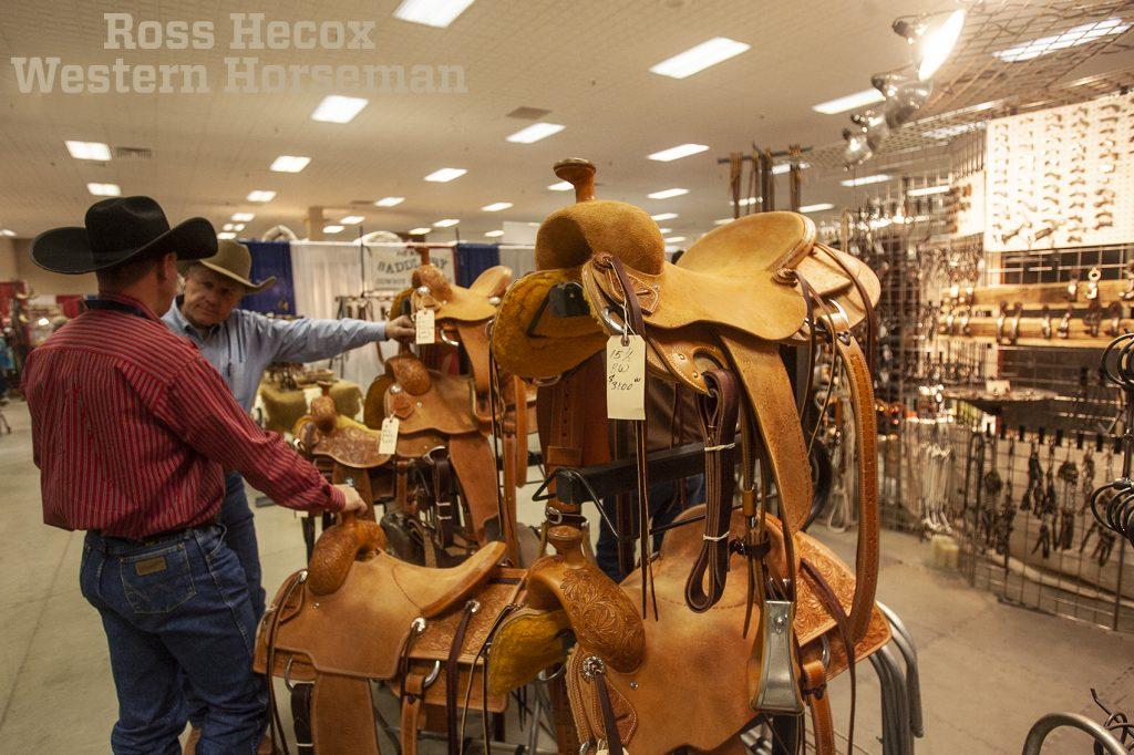 Tad Sanders shows his saddles