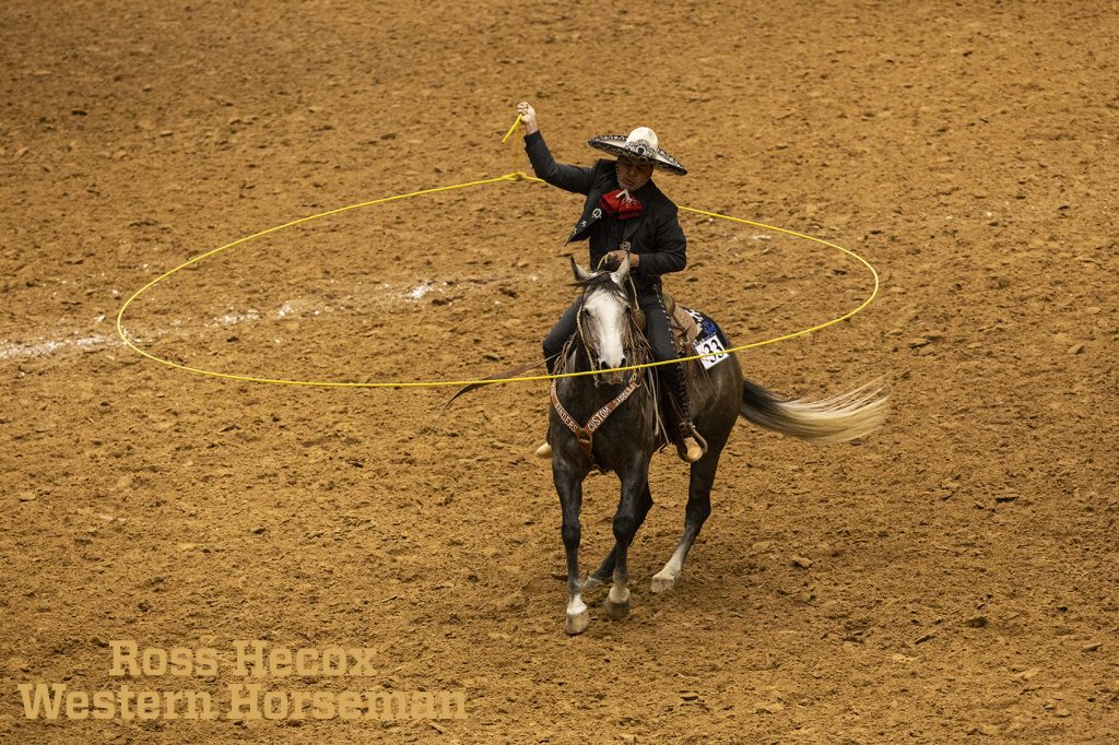 Charro roper at the WRCA ranch rodeo