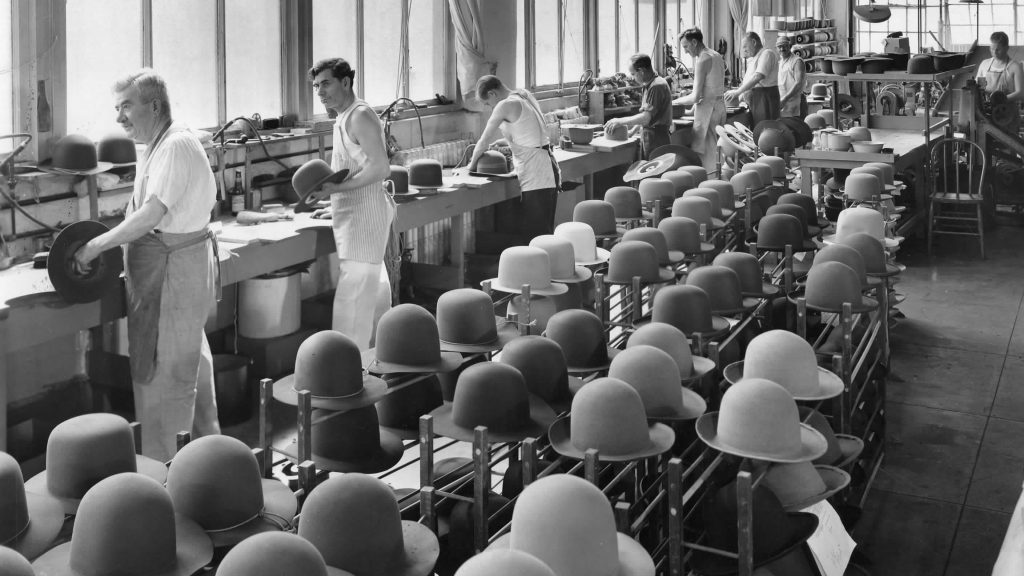 hats in the bailey hat factory in 1928