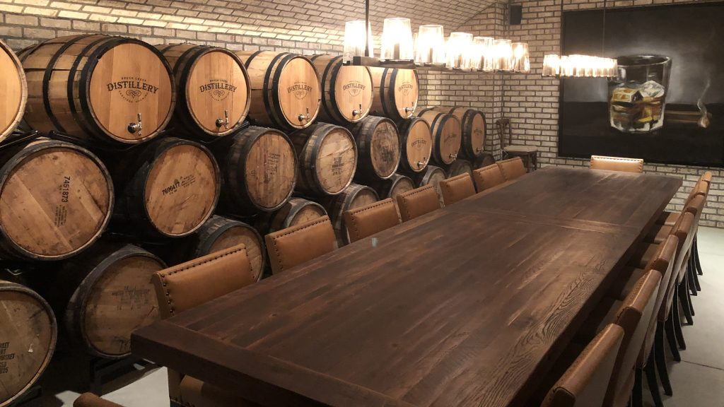 Tasting room at Brush Creek Distillery