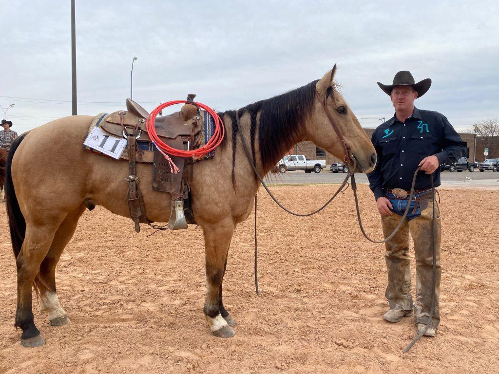 WRCA Top Horse contender Starlight Gun Runner