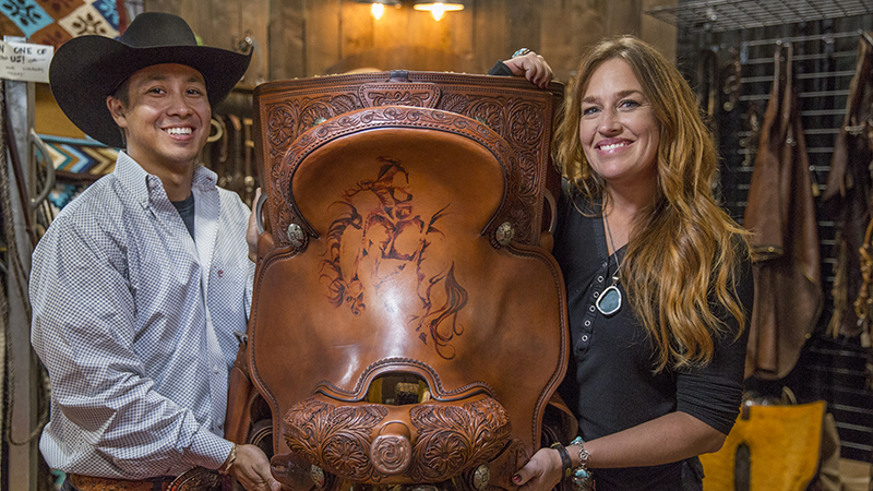 Adam Schwalm and Josey Butler collaborated on this saddle.