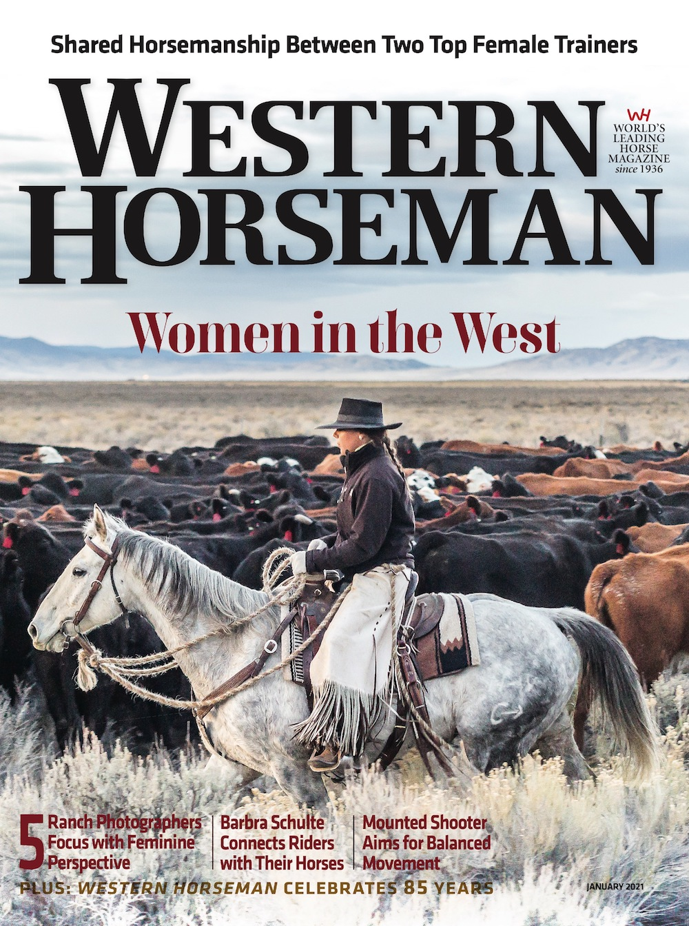 Western Horseman magazine January 2021 cover