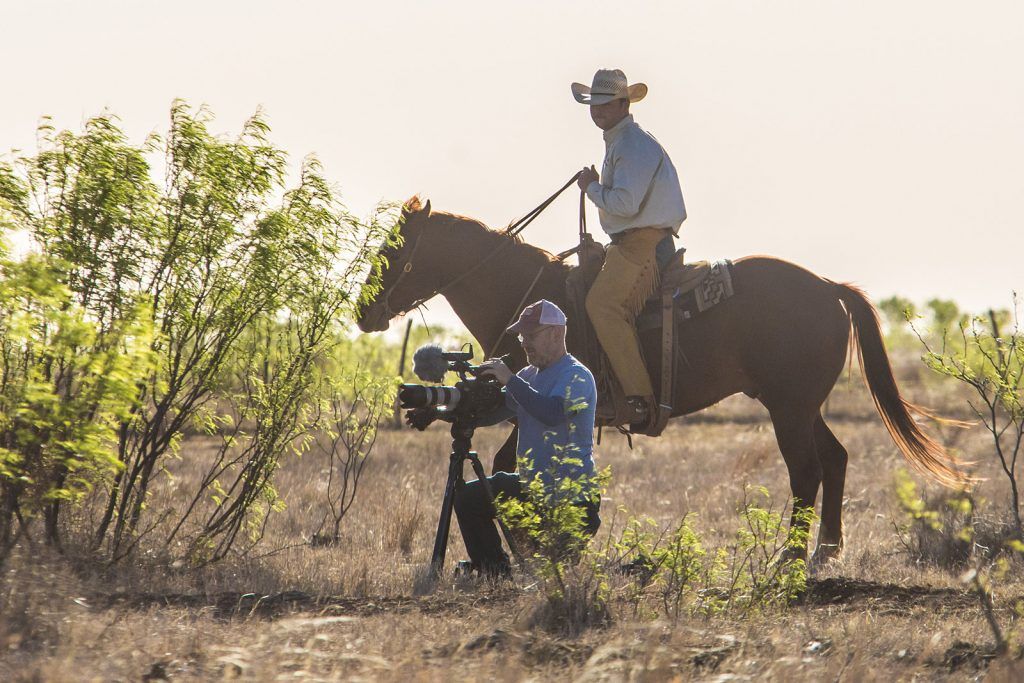Filming for The Cut in Texas.