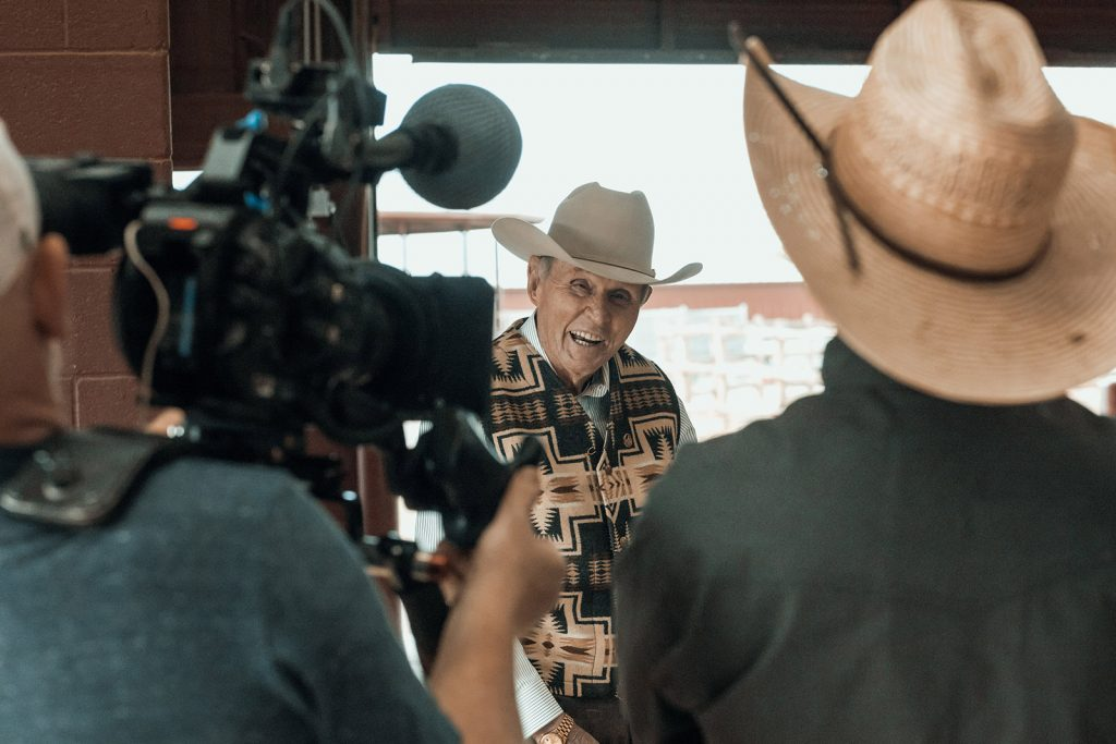 Buster Welch is featured in a new cutting horse film.