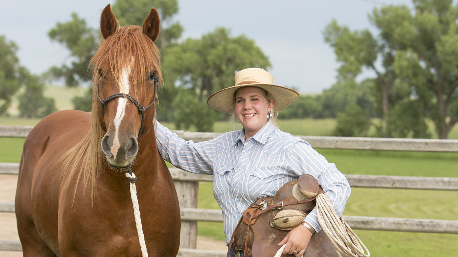 Jessica Casteel lives on a ranch in South Dakota
