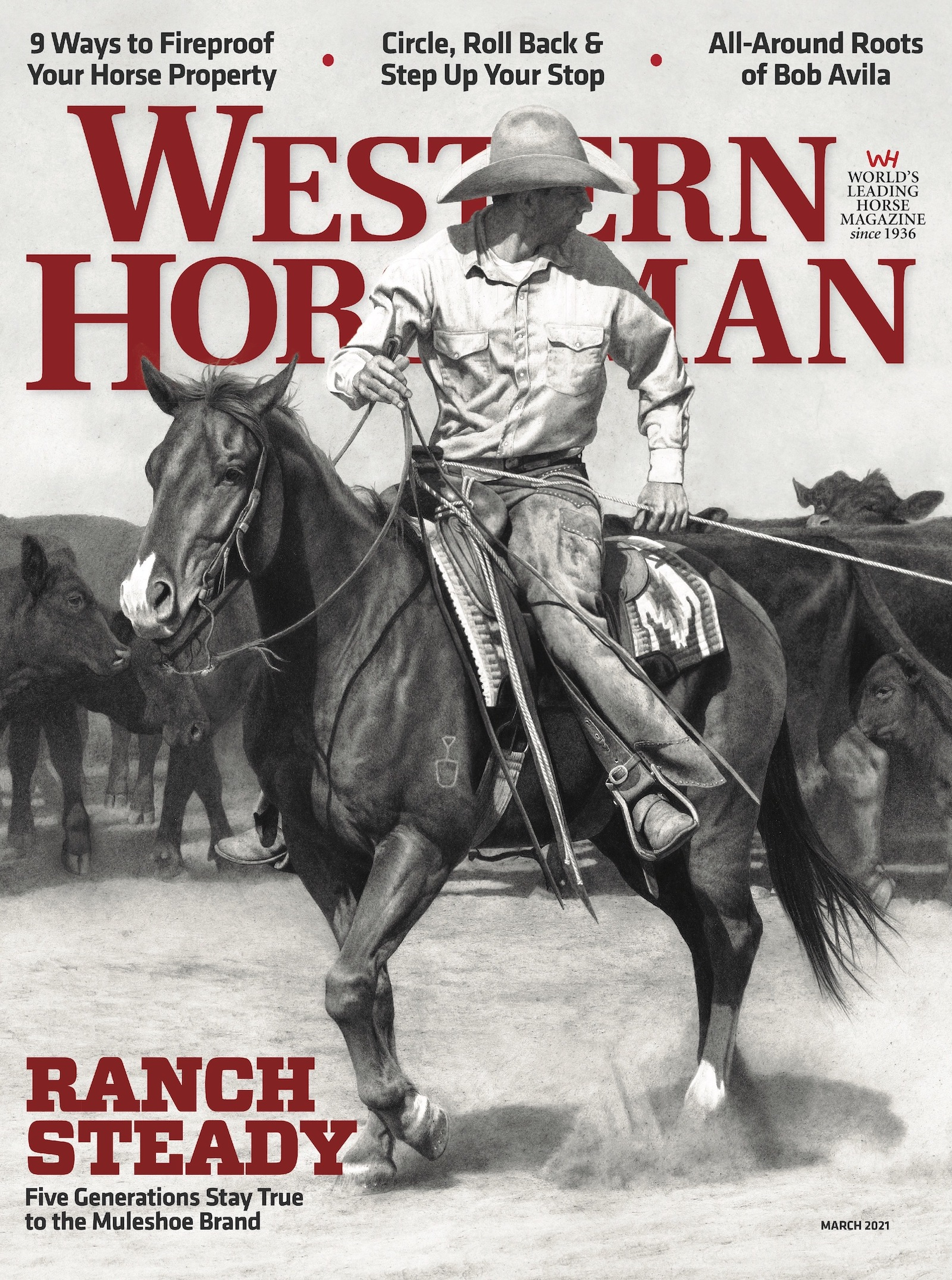 Western Horseman magazine March 2021 cover